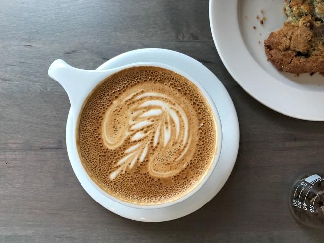 The cardamom spice latte at Stone Creek Coffee.